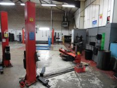 Lions Equipment model 514SP 3000kg, 2 post lift, Yr 2006, 3ph (dismantled)