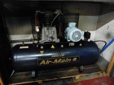 FIAC Air Main AM55 – 200 receiver mount compressor, Yr 2004, 3ph