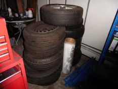 9 assorted used wheels and tyres