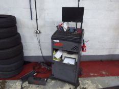 Sun DGA 2500 exhaust gas analyser, with trolley PC and printer
