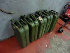 5 x 20l jerry cans some with contents