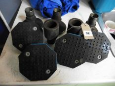 Spare low profile vehicle pads for vehicle lifts