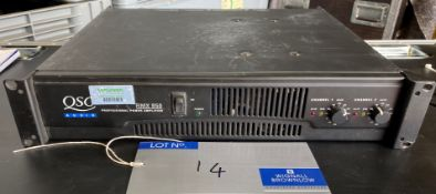 A QSC Audio RMX850 2 channel Professional Power Amplifier (located at 17 Deer Park Road, London,