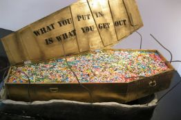 """Maximilian Wiedemann """"You get out what you put in"""" full-size Coffin Sculpture"""