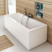 (RR20) 1700 X 700MM Square Double Ended Bath. COMES COMPLETE WITH SIDE PANEL. We love this