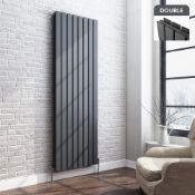 (RR18) 1800x608mm Double Panel Flat Designer Anthracite Vertical Radiator. RRP £549.99. Anth... (
