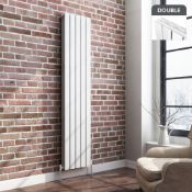 1800x360mm Gloss White Double Flat Panel Vertical Radiator. RRP £449.99. Ultra-modern in desig...