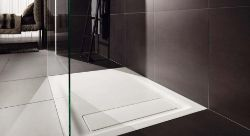 (RR123) 1200x900mm Opale shower tray. RRP £699.99. Opale is simple, slim and with a total inst... (