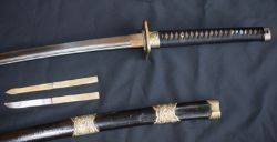 Good Quality Katana In Original Case With Two Fitted Knives