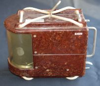 West German Military Aircraft Barograph In Bakelite Case