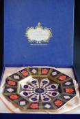 Royal Crown Derby 1128 Octagonal Dish In Original Box