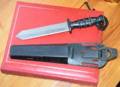 Royal Marine Diver's Knife In Scabbard With Photographic Memorabilia