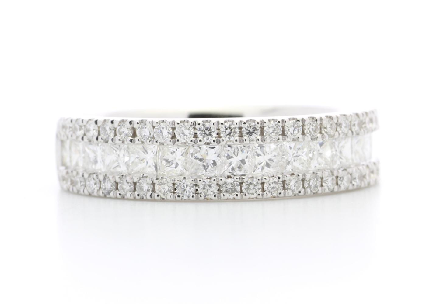 Lot 28 - 18ct White Gold Channel Set Semi Eternity Diamond Ring 1.00 Carats