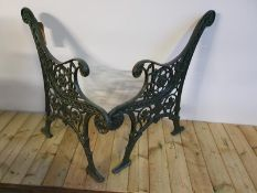 Cast Iron Vintage Bench Ends