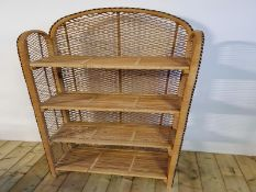 Wicker Shelving Unit