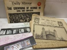 Vintage Royalty Newspapers & stamps