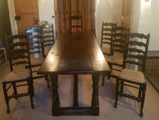 Solid Pine Farm Table & Chairs