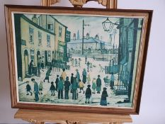 "L.S. Lowry Oil on Canvas Picture 26"" x 20"""