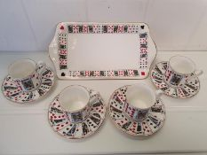 Queens China CUT FOR COFFEE Set