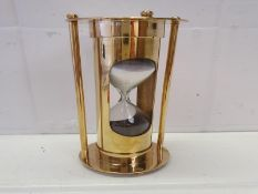 Solid Brass Hourglass