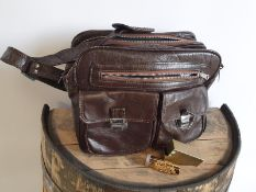 Vintage Leather Bag and Scent Bottle