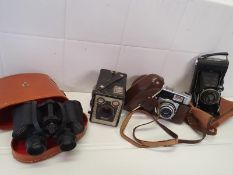 Cameras and Binoculars Bundle Vintage
