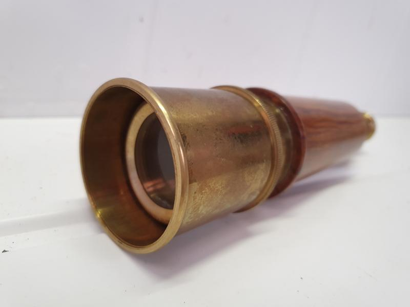 Lot 102 - Solid Brass Telescope