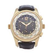 2010 Girard Perregaux World Timer Chronograph 18K Yellow Gold - 4980