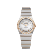 2000 Omega Constellation Diamond Mother Of Pearl Stainless Steel & Rose Gold - 123.25.24.60.55.005