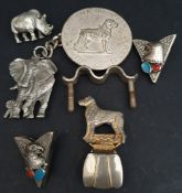 Costume Jeweller Animal Pendants Brooches & clips