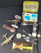 Parcel of Watches Flatware Britains toys etc
