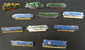 Collectable 11 x Enamel Train Badges