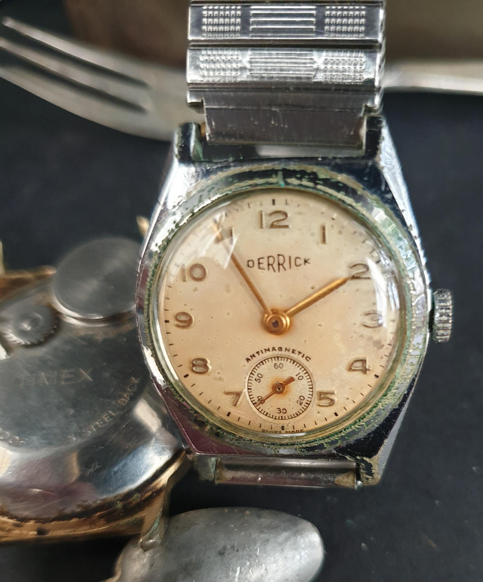 Lot 37 - Parcel of Watches Flatware Britains toys etc
