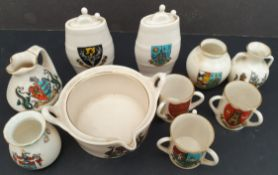 Antique Parcel 10 Goss Crested Ware Items