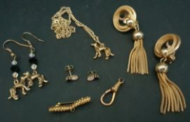 Parcel of Gold Coloured Greyhound Costume Jewellery