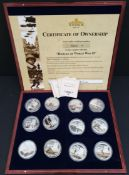 Collectable Coins Battles of WWII 12 x Coins