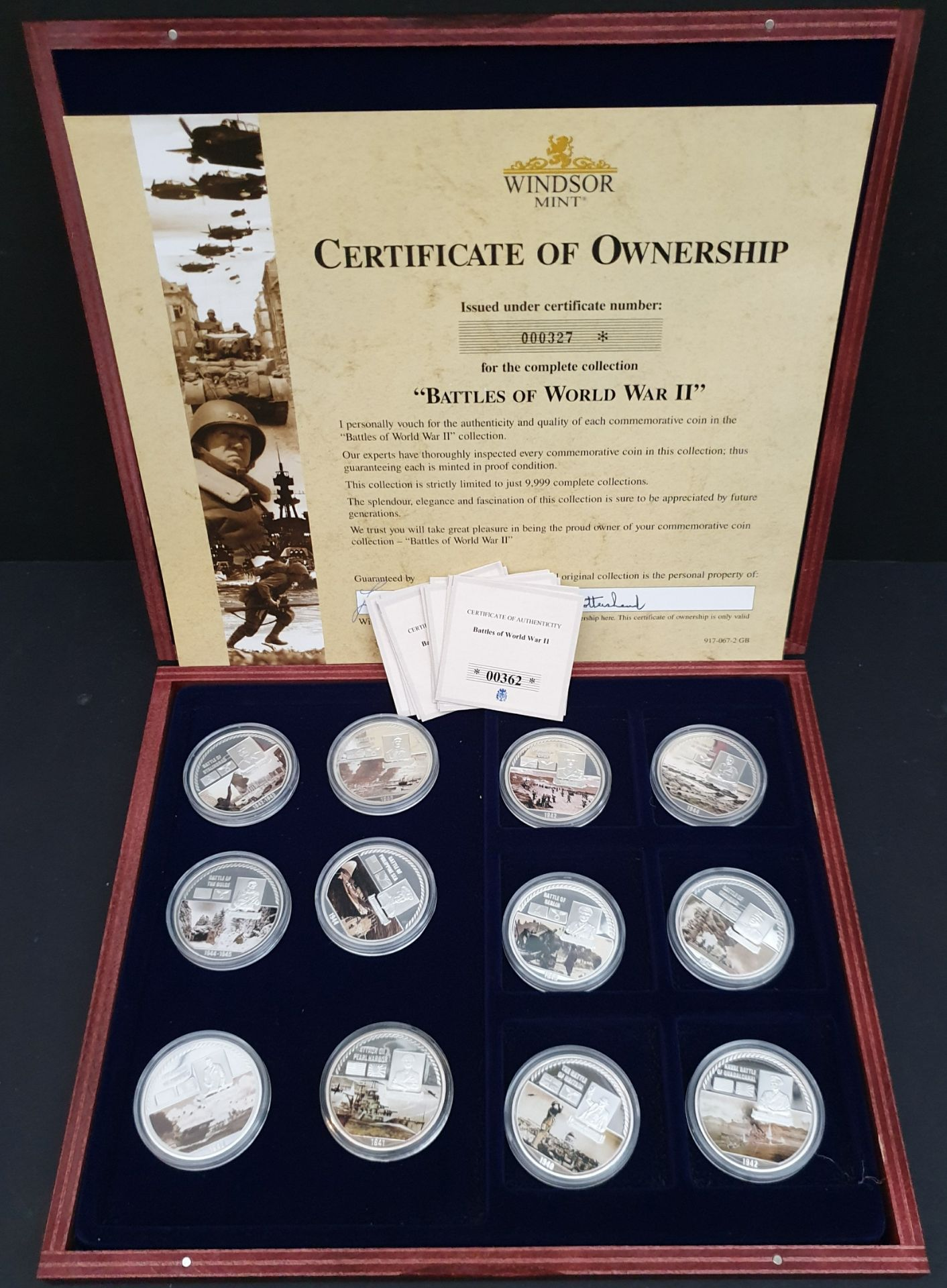 Lot 19 - Collectable Coins Battles of WWII 12 x Coins