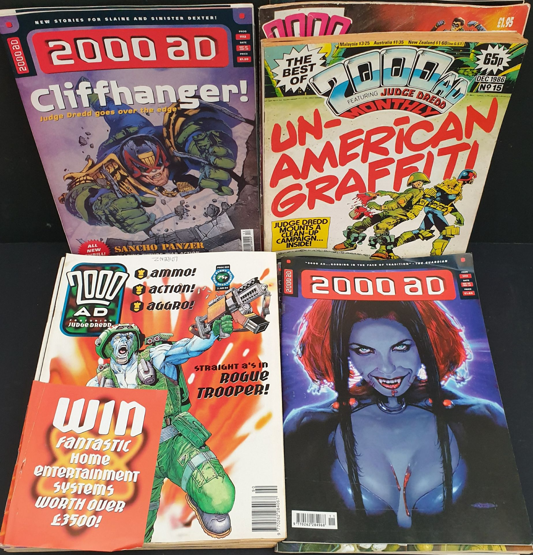Lot 54 - Vintage Parcel of 25 Collectable Comics 2000 AD Judge Dredd