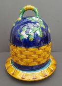 Antique Large Majolica Cheese Dish