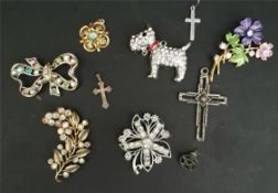 Costume Jewellery Includes Terrier Brooch