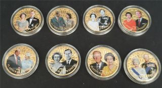 Collectable Coins 8 x Elizabeth II 70th Wedding Anniversary