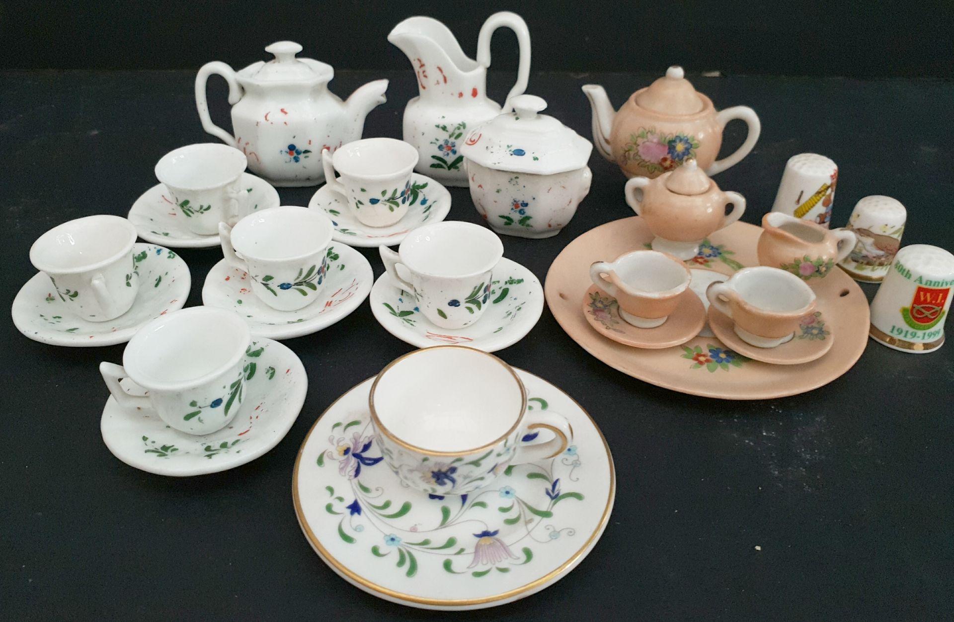 Lot 46 - Antique Vintage Dolls Tea Sets