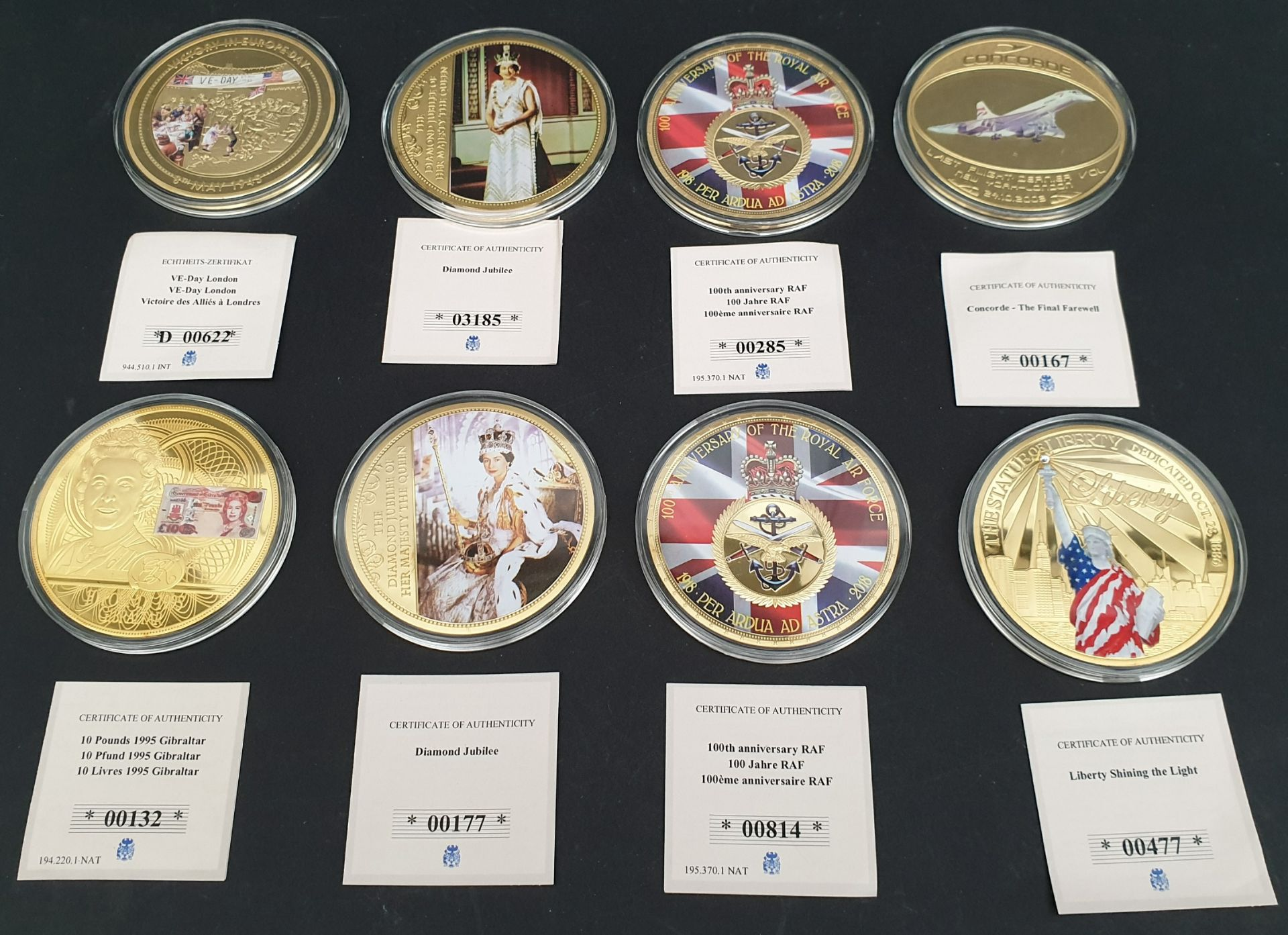 Lot 3 - Collectable Coins 8 x Assorted Subjects Royalty Concord RAF etc.