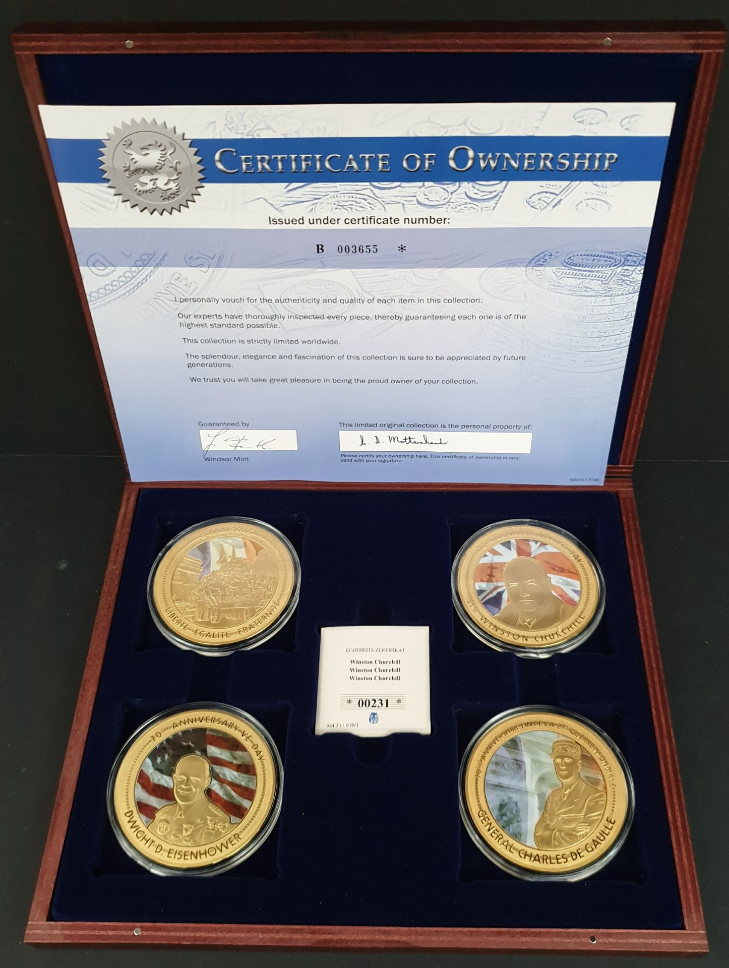 Lot 9 - Collectable Coins Set 4 70th Anniversary VE Day