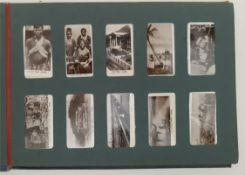 Antique Cigarette Card Album 150 Plus Cards