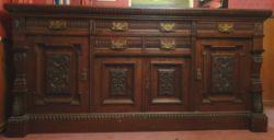 Antique Large Hardwood Victoria Side Server or Side Board
