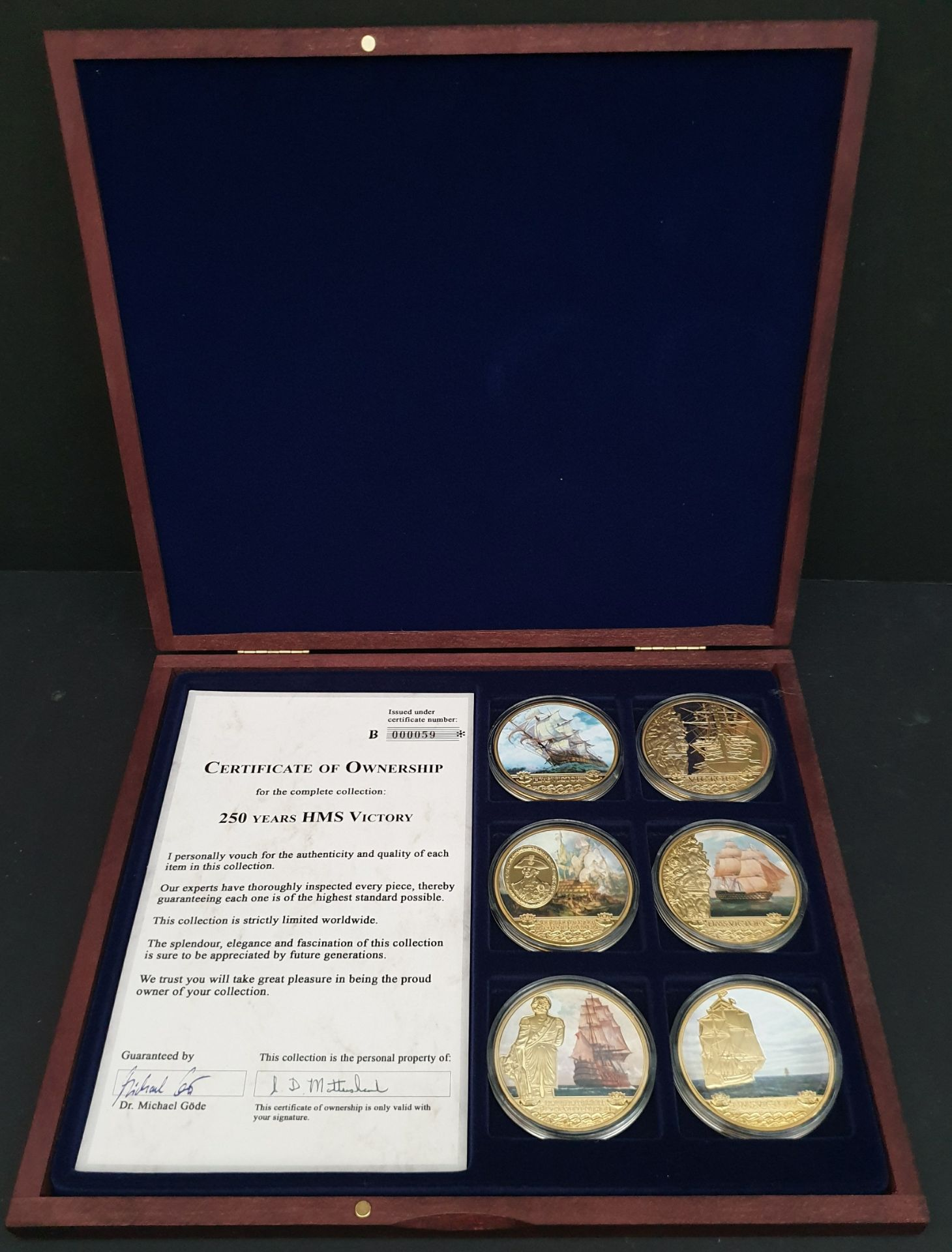 Lot 16 - Collectable Coins 250 years HMS Victory