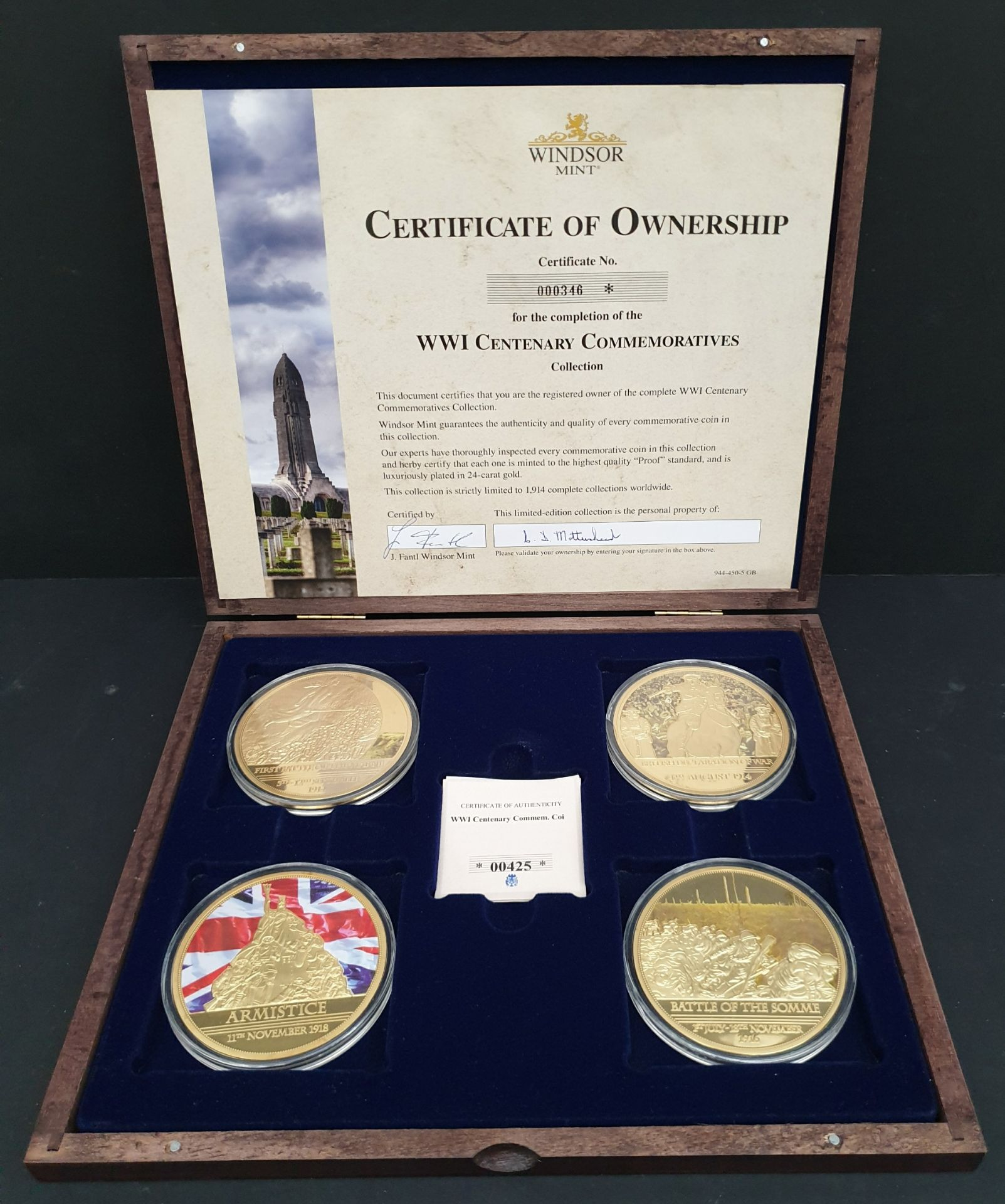 Lot 11 - Collectable Coins Set 4 WWI Centenary Commemoratives