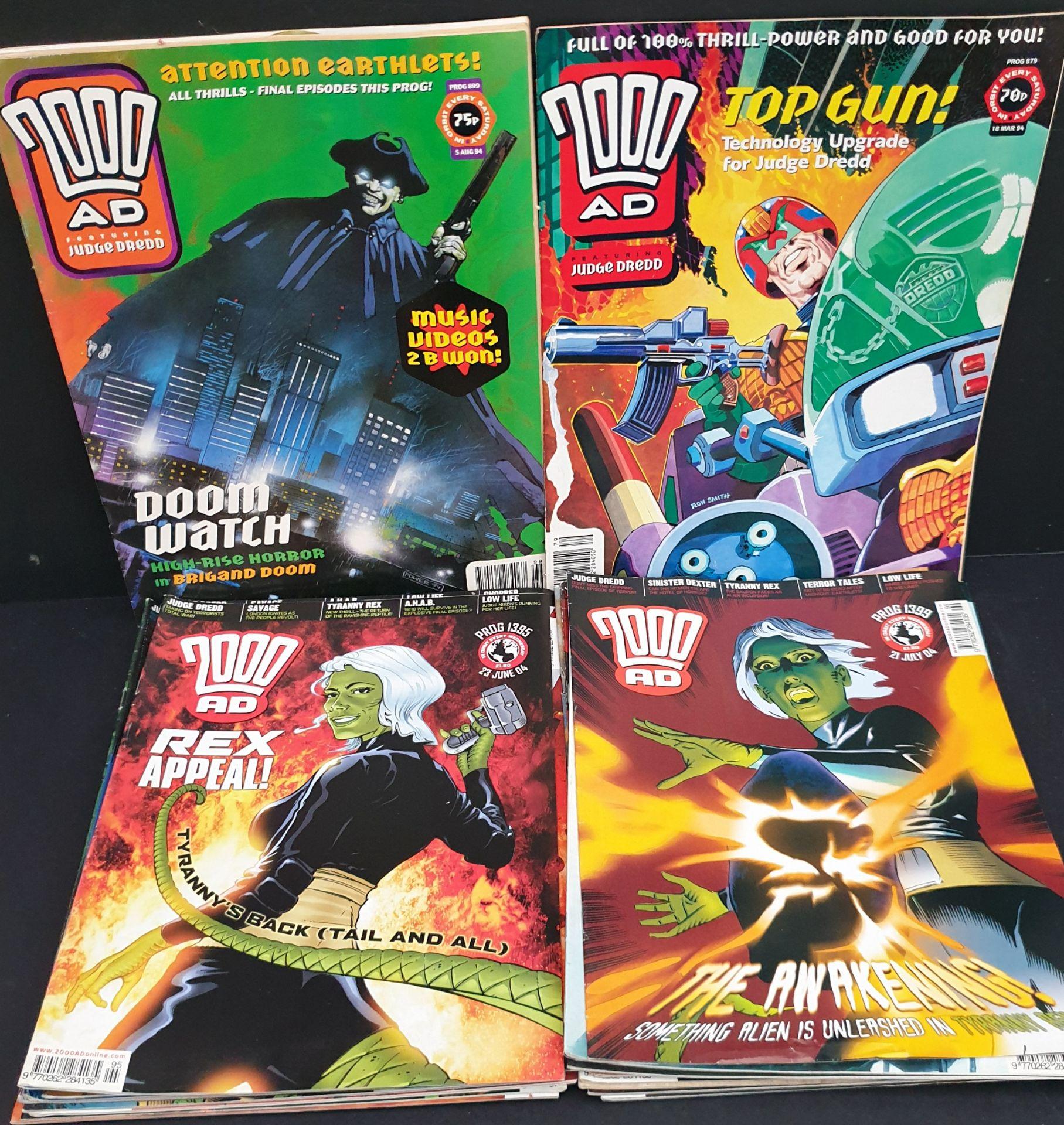 Lot 56 - Vintage Parcel of 25 Collectable Comics 2000 AD Judge Dredd