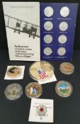 Collectable Coins Parcel of 7 Plus Shell Flight Coins